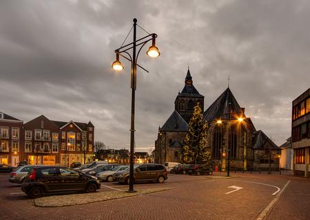 Oldenzaal - Sint Plechelmusplein - Oldenzaal - Sint Plechelmusplein - foto door mdwaard op 25-01-2018 - deze foto bevat: nachtfotografie, twente, avondfotografie, oldenzaal, sint plechelmus, sint plechelmusplein