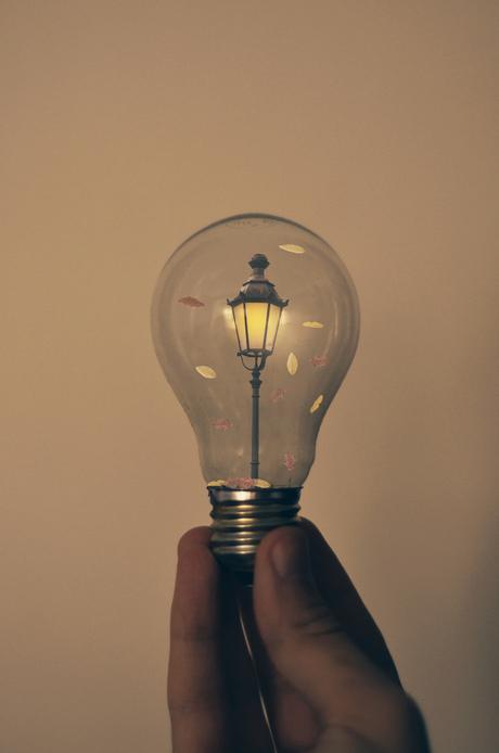 autumn light inside bulb