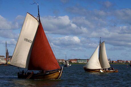 Op de boot van Marken naar Volendam.