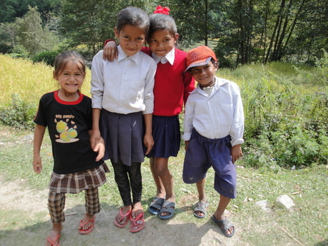 Schoolkinderen 2 (Nepal)