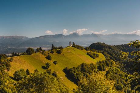 St Primoz Church, Jamnik Slovenia.