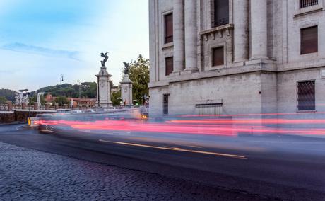 Drukte voor het Vaticaan