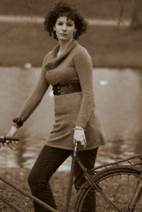 Mijn fiets terug, helaas weinig van over