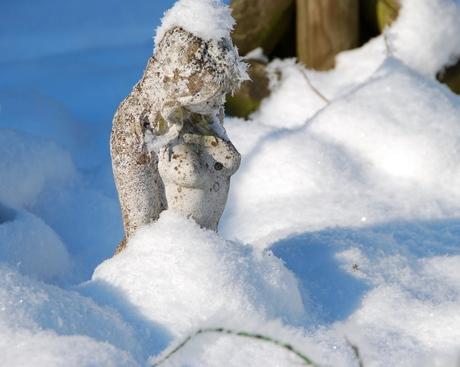 Lezen in de sneeuw