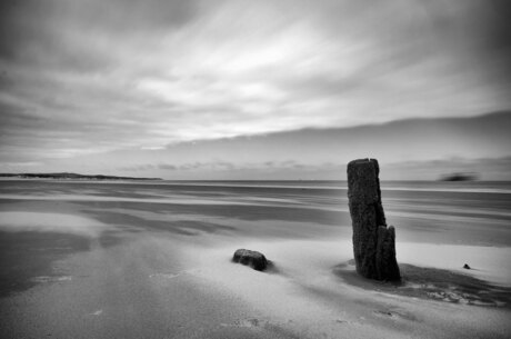 Stormy day on the beach of Calais