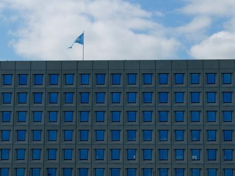 Het gebouw 'met de blauwe ogen'