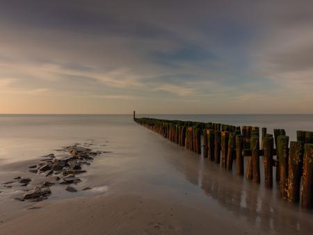 zoutelanden - de dag voor storm Ciara in zoutelanden - foto door edwin-hoek op 07-03-2020 - deze foto bevat: wolken, zon, strand, natuur, avond, zonsondergang, landschap, zand, kust