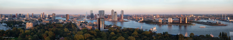 Sunset at Rotterdam - Panorama