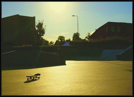Lonely skateboard