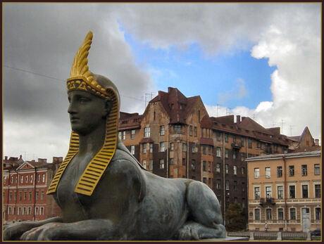 Sfinxenbrug in st.Petersburg