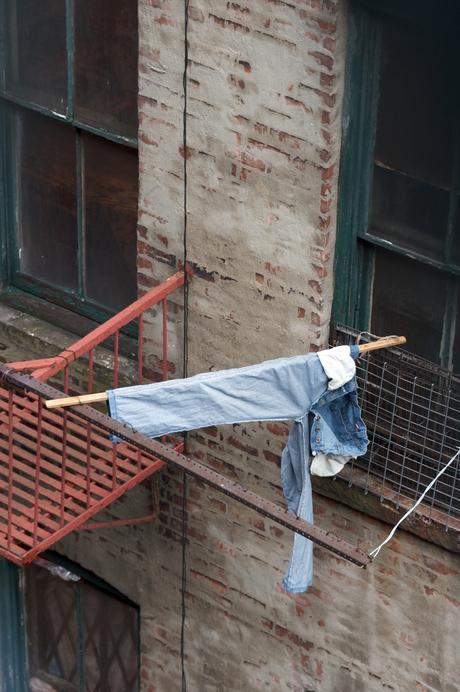 Zo kan het ook, niet iedereen heeft een waslijn nodig