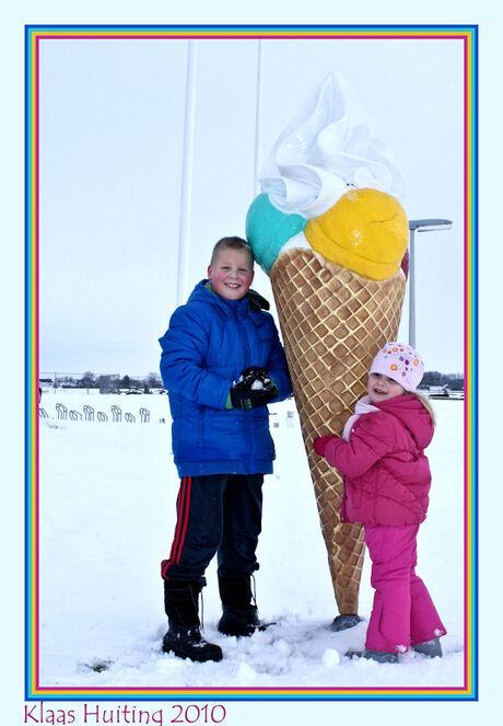 Pap,mogen wij een ijsje??