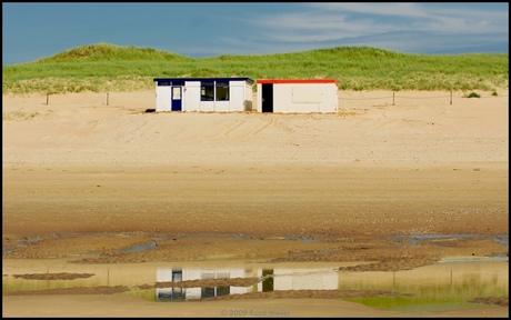 Strandcabines op Texel