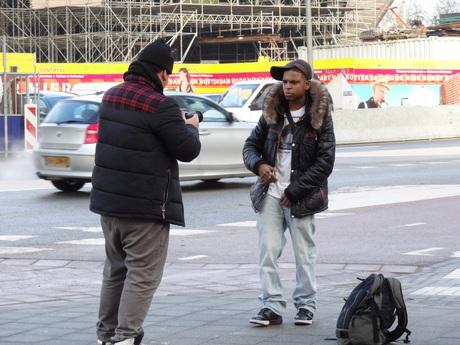 making a Rap video