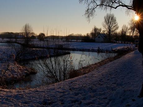 Winters weer in Klundert