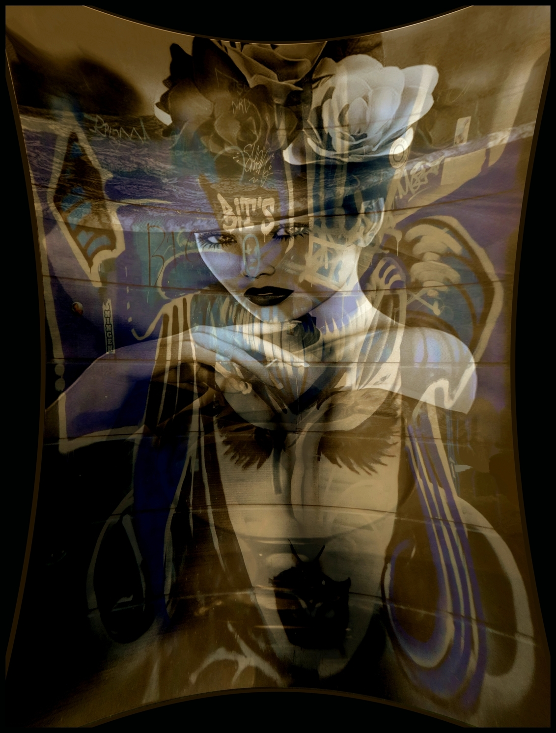 Samensmelting - alleen of ze het samen eens zijn... valt nog te bezien. - foto door Gooiseroos op 17-02-2020 - deze foto bevat: vrouw, abstract, licht, structuur, bewerkt, fantasie, silhouet, kunst, bewerking, sfeer, contrast, creatief, manipulatie, bewerkingsuitdaging, samensmelting