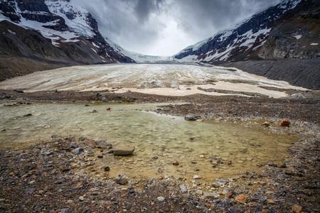 Athabasca gletsjer - Athabasca gletsjer in Canada is geweldig. Een natuurverschijnsel wat door de eeuwen heen ontstaan. Een enorme kracht van natuurgeweld. Deze gletsjer - foto door HaroldSpierenburg op 31-10-2013 - deze foto bevat: natuur, sneeuw, wind, landschap, canada, gletsjer, filter, natuurgeweld, smooth, lange sluitertijd, Stops