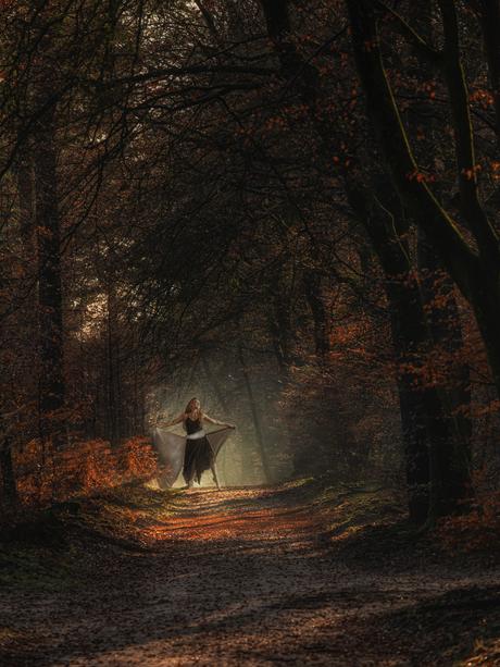 1 ballet dancer in the woods