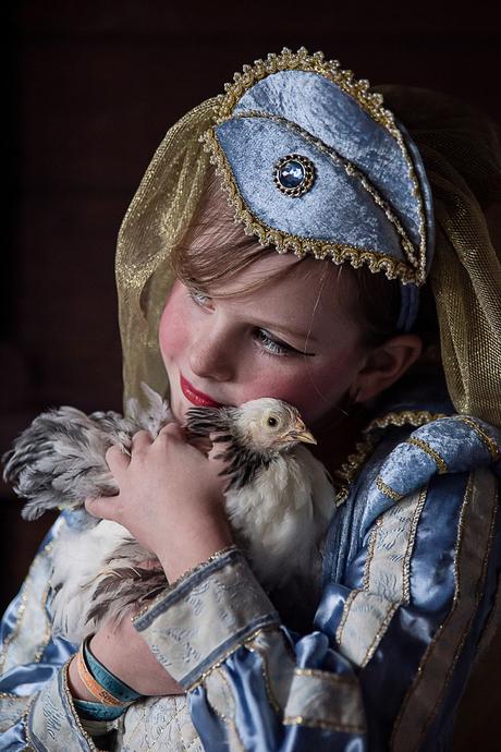 De jonkvrouwe en haar kipje