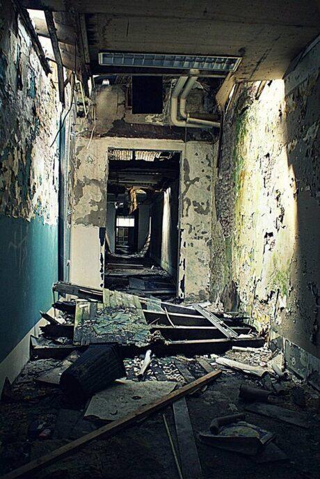 Verlaten psychiatrish ziekenhuis