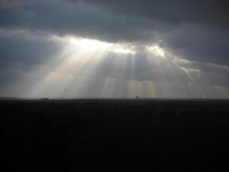 de hemel gaat open