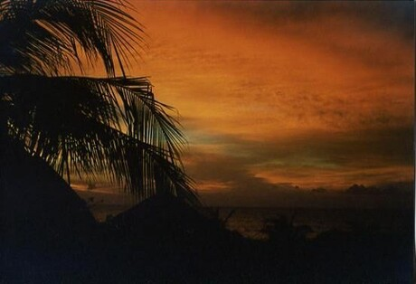 zonsondergang Ngombo
