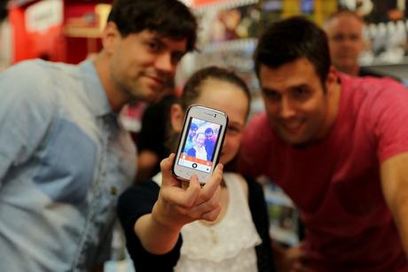 selfie met Nick en simon