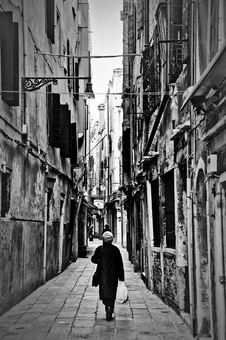 Boodschappen doen in Venetië