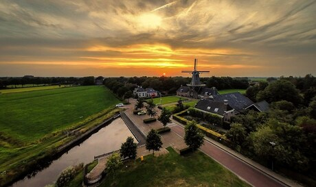 Sunset from a drone