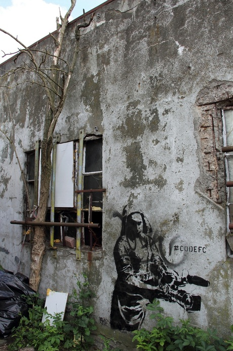 graffiti camera man