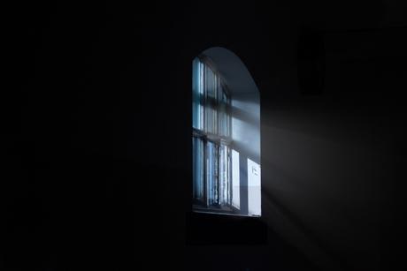 Raam in gevangenis Wolfenstein