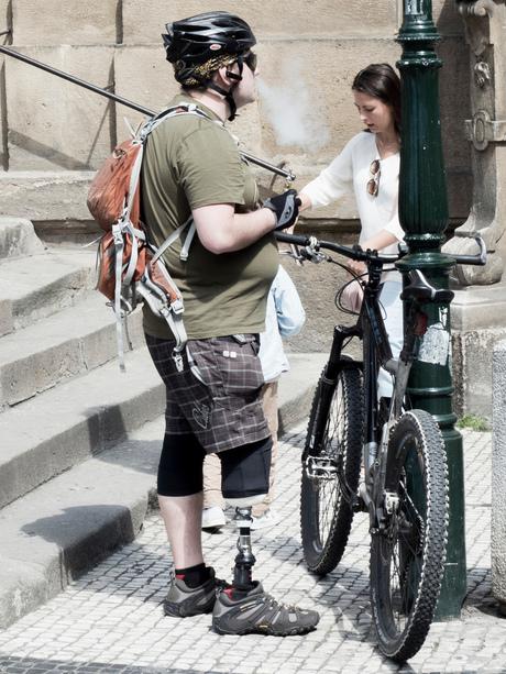 Iron leg biker