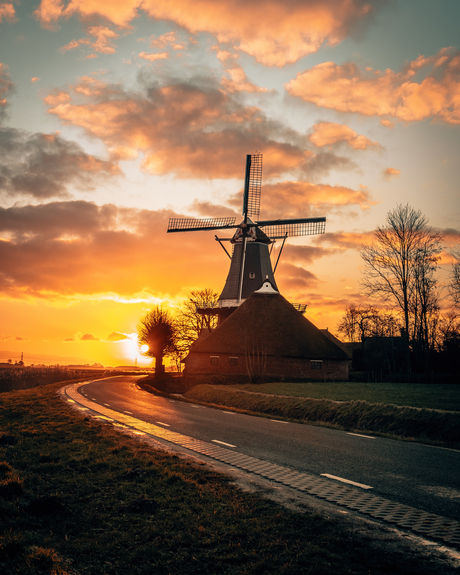 Molen de Hoop in Groningen