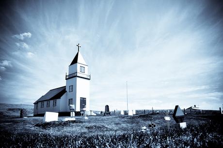 Kerkje op het eiland Grimsey