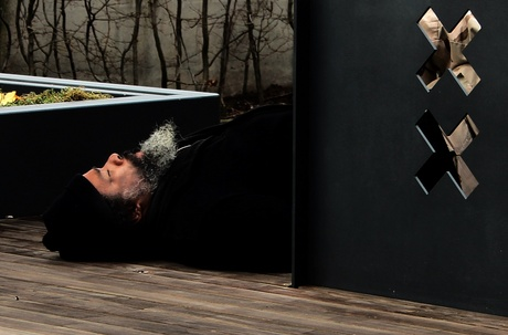 homeless guy sleeping