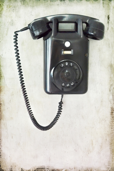 Old telephone, vintage