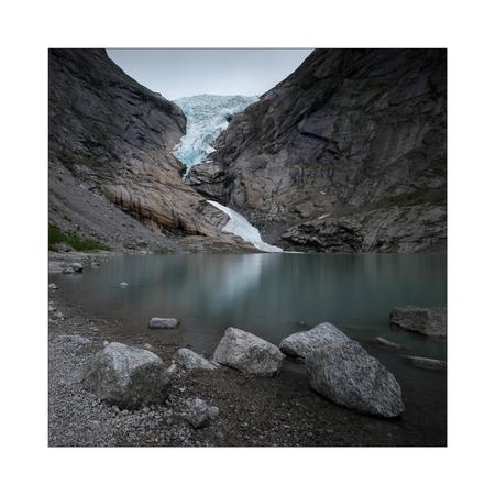 Retreat - - - foto door Joshua181 op 26-08-2017 - deze foto bevat: water, natuur, spiegeling, reizen, landschap, bergen, meer, noorwegen, gletsjer, lange sluitertijd