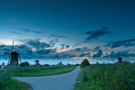 Zonsondergang Kinderdijk II