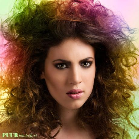Colourful BIG hair