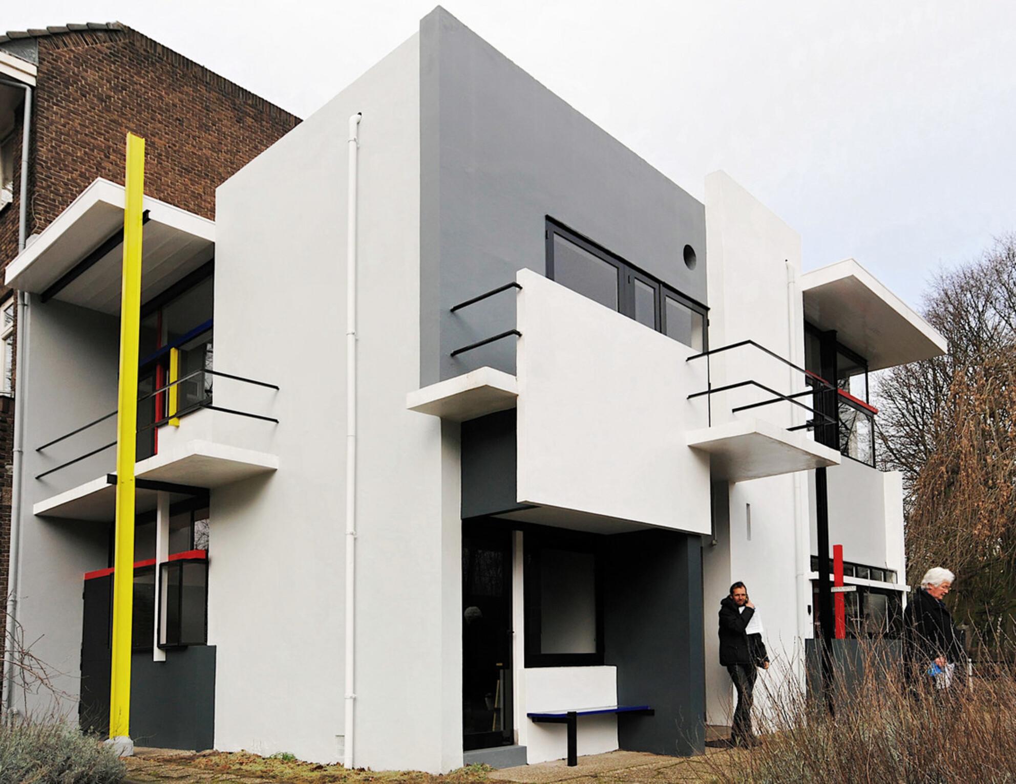 Rietveld - Rietveld-schroder huis in Utrecht - foto door neovisie op 02-03-2011 - deze foto bevat: rietveld, architect - Deze foto mag gebruikt worden in een Zoom.nl publicatie