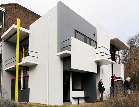 Rietveld - Rietveld-schroder huis in Utrecht - foto door neovisie op 02-03-2011 - deze foto bevat: rietveld, architect