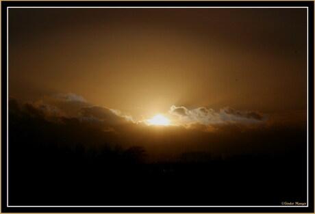 Zonsondergang in Arnhem