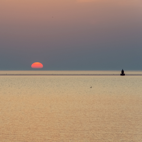 Sunset at the Waddensea
