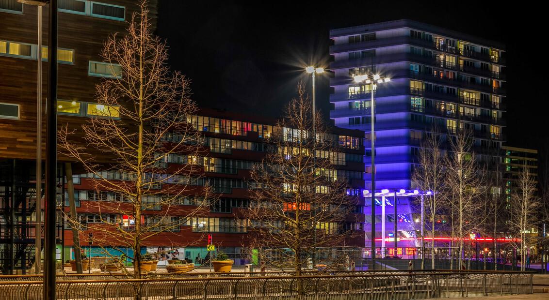 Almere Stad - Almere Stad bij nacht - foto door HilbertFlokstra op 05-03-2016 - deze foto bevat: tijdopname, nacht fotografie