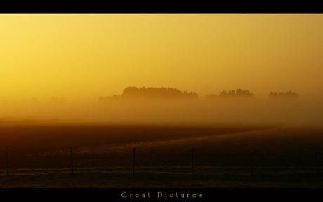 Ochtendzon met mist