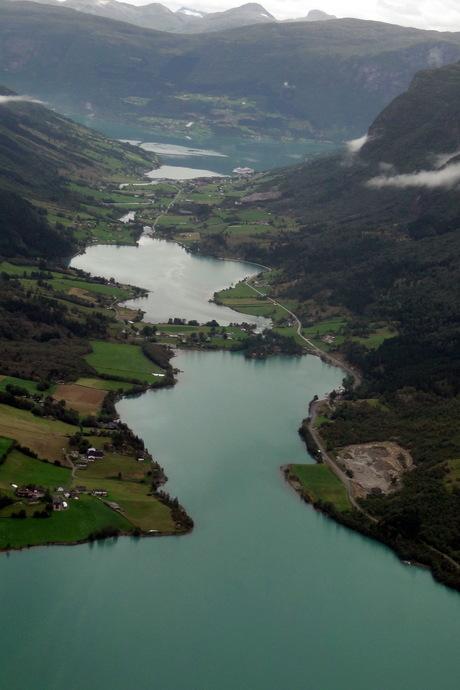 Fjord van uit de lucht