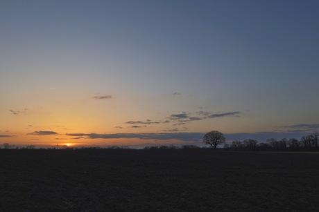 Zonsondergang op de Esch