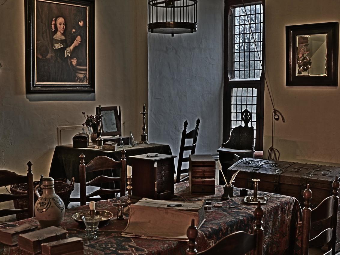 Interieur kasteel Doorwerth - - - foto door hprinsen op 09-12-2019