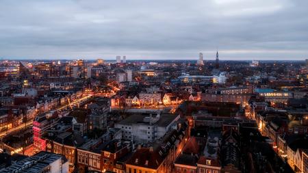 Groningen.. - gefotografeerd vanaf het dak van Het Forum! - foto door BNN op 13-01-2020 - deze foto bevat: groningen, verlicht, forum, avondfotografie, bnn