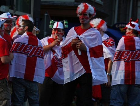 Engelse supporters @A-dam